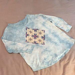 Lucky Brand- Woman's Long Sleeve Tie Dye Shirt
